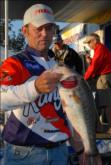 Pro Keith Pace of Monticello, Ark., is in fourth place with a five-bass limit weighing 18 pounds, 5 ounces.
