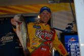 Kellogg's pro Dave Lefebre of Union City, Penn., nabbed the third place position after day one with a five bass limit weighing 19 pounds.