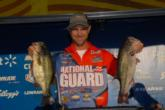 National Guard pro Jonathan Newton of Rogersville, Ala., is in second place after day one with a five-bass limit weighing 19 pounds, 3 ounces.