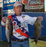 Keith Pace of Monticello, Ark., is in third place with a two-day total of 35 pounds, 7 ounces.