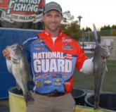 National Guard pro Jonathan Newton of Rogersville, Ala., is in second place with a two-day total of 35 pounds, 7 ounces.