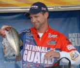 National Guard pro Jonathan Newton of Rogersville, Ark., finished second with a three-day total of 50 pounds, 10 ounces. He is also Forrest Wood Cup bound in 2010.