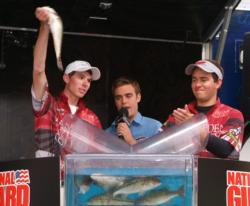 Hampden-Sydney College anglers Charles Parrish and Allen Luck finished third with a total weight of 21 pounds, 10 ounces.