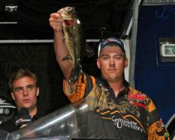Jake Akin shows off one of the fish that put Kennesaw State in second place.