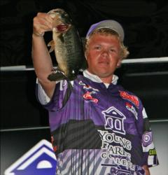 Brad Rutherford of Young Harris College reported losing a 5-pounder early, but he rebounded with another good fish.