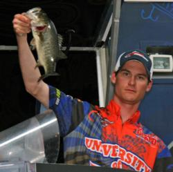 University of Florida angler Matthew Wercinski shows off one of his day two fish.