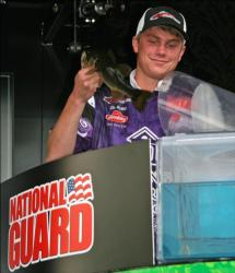 Avoiding the goose egg, Clint McNeal boated a single bass for Young Harris College.