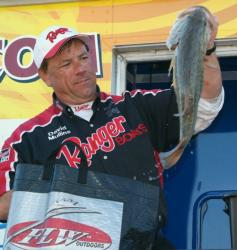 With a three-day total of 76 pounds, 14 ounces, pro David Mullins finished the Falcon Lake event in third place.