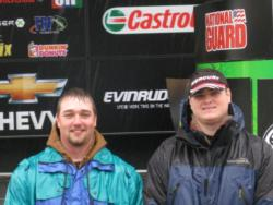 College of the Ozarks teammates Greg Jarman and Robert Loyd finished in third place at the FLW College Fishing event at Lake of the Ozarks.
