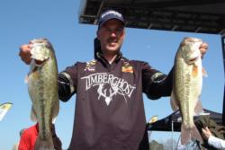 Pro Andy Morgan of Dayton, Tenn., posted a 15-pound catch to land in second place overall on Lake Norman.
