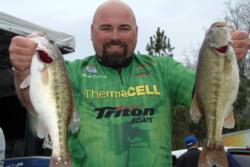 Co-angler Mark Denney of Cottontown, Tenn., finished the day in third place with a total catch of 18 pounds, 10 ounces.