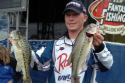 Pro Andy Montgomery of Blacksburg, S.C., qualified for the FLW Tour finals on Lake Norman in third place with a 38-pound, 15-ounce catch.