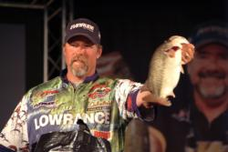 Rusty Salewske of Alpine, Calif., finished the FLW Tour event on Lake Norman in second place.