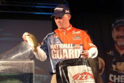 Andy Montgomery of Blacksburg, S.C., used a total catch of 49 pounds, 3 ounces to walk away with third place overall at the FLW Tour event at Lake Norman.
