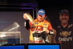 On the strength of a total catch of 44 pounds, 5 ounces, Brian Travis of Conover, N.C., finished the FLW Tour Lake Norman event in fourth place, cashing in on over $19,000 in winnings.