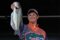 University of Florida team member Jake Gipson shows off part of his team