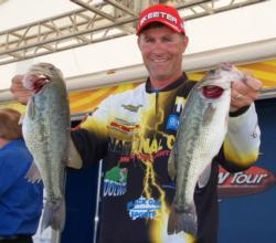Knoxville, Tenn., pro Brandon Coulter finished the opening round in fourth place.