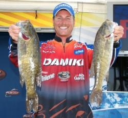 Bryan Thrift slipped to second after catching a 10-pound, 5-ounce limit Friday.