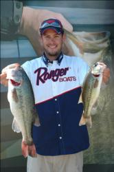 Adam Williamson, 23, of Ridgeway, S.C., representing the Southern Division, held on to lead the Co-angler Division Friday with four bass weighing 10 pounds, 11 ounces.
