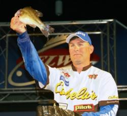 Brandon Coulter managed only three fish Saturday and slipped to fifth place.