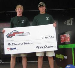 Lagrange College teammates Torre Pike and Ryan Wakenigg took home top honors at the National Guard FLW College Fishing qualifier at Lake Seminole. The duo netted $10,000 in scholarships at the Southeast Division qualifier in Bainbridge, Ga.