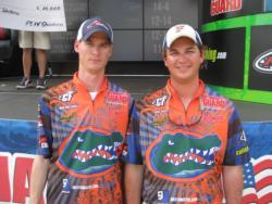 Fresh off their victory at the 2010 FLW College Fishing National Championship, University of Florida teammates Jake Gipson and Matthew Wercinski recorded a second-place finish at the FLW College Fishing Southeast Division qualifier at Lake Seminole. The team took home $5,000 in scholarships.