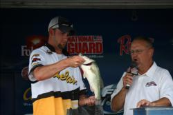 Andrew Luxon was the runner-up in the Co-angler Division with a three-day weight of 50 pounds, 9 ounces.