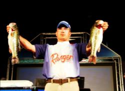 Boater Troy Morrow of Toccoa, Ga., is in second place with 13-12.