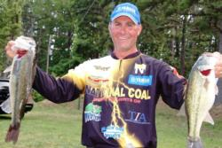 Pro Brandon Coulter stands in eighth place overall at the FLW Tour Lake Ouachita event.