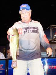 Boater Tee Watkins of East Point, Ky., is in second place after day two of the All-American with 25-6.