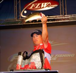 Troy Morrow caught five-bass limits over the first two days and finished up Saturday with four bass for 8-11.