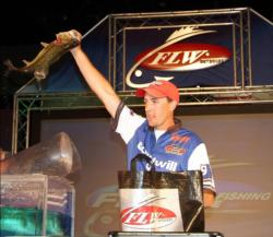 Co-angler Brett Rudy won the championship with a three-day total weight of 21 pounds, 4 ounces, including two bass for 5-14 on the final day.