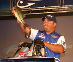 Boater Keith Green of Arkadelphia, Ark., finished third with 13 bass over three days for 30-8 and $16,000.
