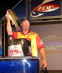 Jason Threadgill of Norwood, N.C., placed fifth in the Boater Division with 14 bass, 29 pounds, $13,000.