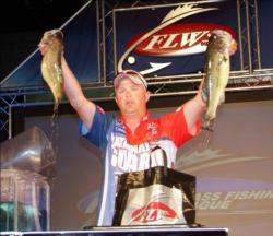 Co-angler Jeremy Rasnick of Point Lookout, Mo., ended the All-American in second place with 12 bass weighing 18-7 worth $17,000.