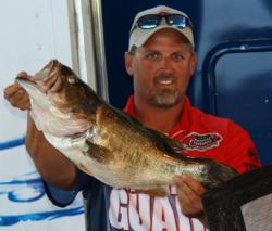 Pro winner Bart Blakelock caught this 9-pounder in the last hour of his fishing day.