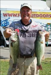 Mike Devere is second in the Co-angler Division with 36 pounds even.
