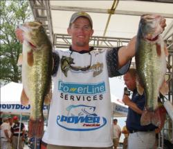 Third-place pro Keith Combs had another productive day on Lake Guntersville - catching a limit worth 22-11.