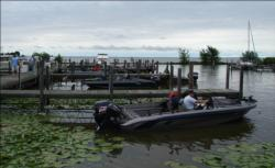Anglers prepare for a challenging day on Wisconsin