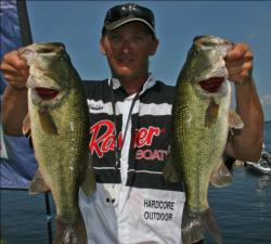 Flipping grass in the Ticonderoga area put Rob Webster in second place.