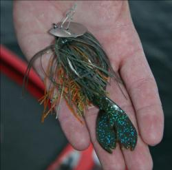 Second place pro Bill Spence will rely on a bluegill pattern chatterbait.
