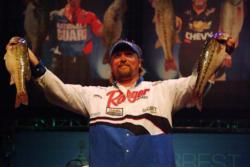 J.T. Kenney of Palm Bay, Fla., finished the day in third place in the Pro Division of the 2010 Forrest Wood Cup after landing a total catch of 14 pounds, 6 ounces.
