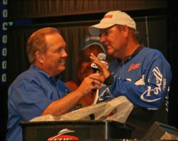 Altering his presentation with a bait he used in practice enabled JR Wright to top the co-angler division.