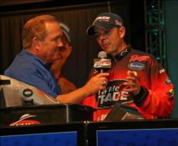 Downsizing his dropshot rigs proved effective for third place co-angler Dearal Rodgers.