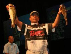 Although power fishing is his preferred game, Frank Divis Sr put a dropshot to good use and finished fourth.