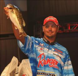 Pro Jason Christie sits in third place with a two-day total of 25 pounds, 1 ounce.