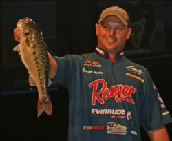The biggest bass of the day, a 4-6, belonged to fifth place Brandon Hunter.