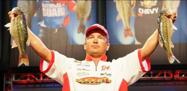 Sixth-place pro Troy Morrow caught a five-fish limit Saturday weighing 12 pounds, 11 ounces.