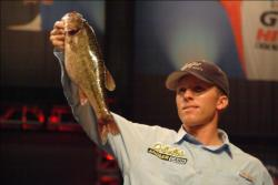 Pro Kevin Hawk of Ramona, Calif., used a three-day catch of 36 pounds, 1 ounce to grab the fourth qualifying spot heading into the finals of 2010 Forrest Wood Cup competition.