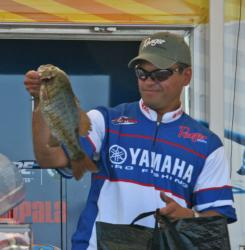 Finising fifth, David Wolak lost an estimated six pounder on camera when the fish got sideways in a grass line.
